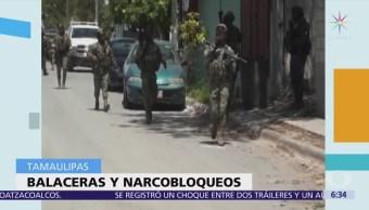 Se registran narcobloqueos en Reynosa, Tamaulipas