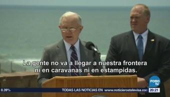 Sessions anuncia cero tolerancia a la migración ilegal