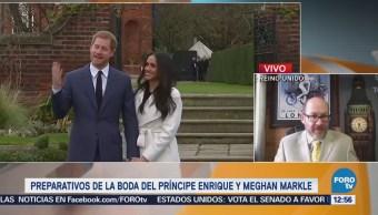 Siguen los preparativos de la boda del príncipe Enrique y Meghan Markle