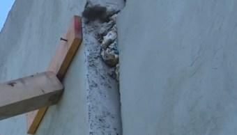 sismo daña barda en la colonia leyes de reforma iztapalapa