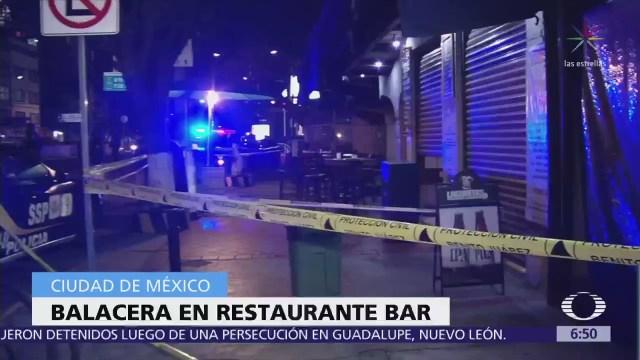 Suman 3 tiroteos en bares, antros o restaurantes de CDMX en 5 días
