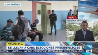 Suman 8 horas del proceso electoral en Venezuela