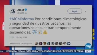 Suspende Actividades Aeropuerto Ciudad De México