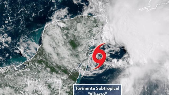 Se forma la tormenta Alberto, primera de la temporada en el Atlántico