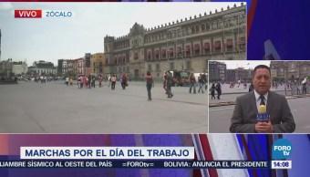 Transcurren Calma Manifestaciones Zócalo De La CDMX