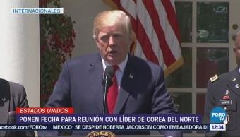 Trump anuncia que ya se fijó lugar para encuentro