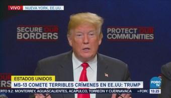 Trump expone situación generada por la
