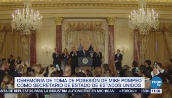 Trump habla en ceremonia de juramentación de Mike Pompeo