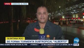 Turistas Retoman Actividades Cancún Alerta Amarilla Alberto