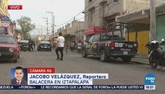 Muerto Herido Balacera Iztapalapa CDMX Crimen