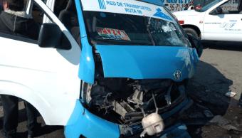 Choque de transporte público en autopista México-Puebla deja 12 lesionados