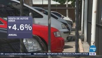 Ventas de autos bajan 4.6% durante abril en México