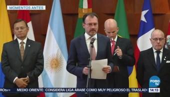 Videgaray Recibe Ministros Exteriores Finanzas Grupo De Lima