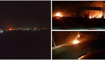 video-ataque-israel-sur-damasco-siria-posiciones-ejercito-sirio