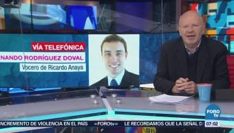 Vocero de Ricardo Anaya niega crisis en el equipo de campaña