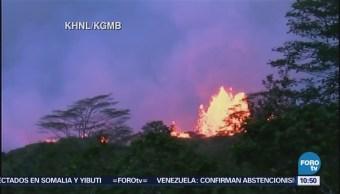 Volcán Kilauea provoca nube tóxica