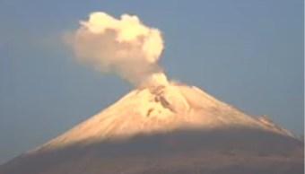 Volcán Popocatépetl amanece con exhalaciones continuas¿