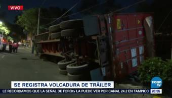 Vuelca Tráiler Paseos Taxqueña CDMX Accidentes