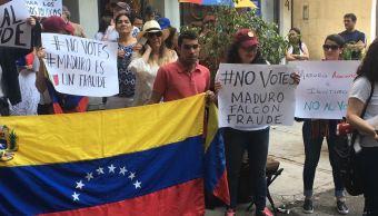 Venezolanos en México protestan contra posible reelección de Maduro