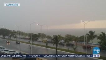 Lluvias Provocan Encharcamiento Tráfico Campeche