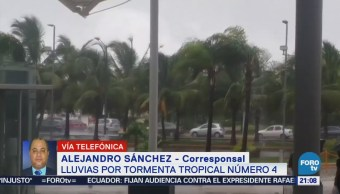 Se Registran Fuertes Lluvias Península Yucatán