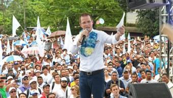 Ricardo Anaya, candidato de la Coalición Por México al Frente a la Presidencia. (EFE)