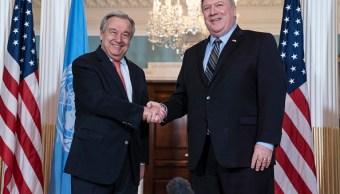 Pompeo y Guterres se reúnen para hablar de Corea del Norte