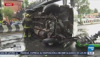 Volcadura Microbús Complica Vialidad Miramontes Cdmx