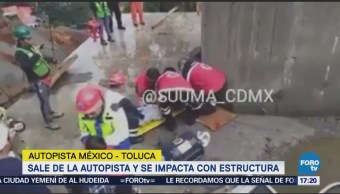 Accidente en la México-Toluca deja t