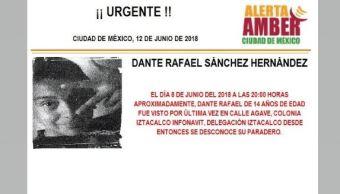 Activan Alerta Ámber para menor extraviado en Iztacalco
