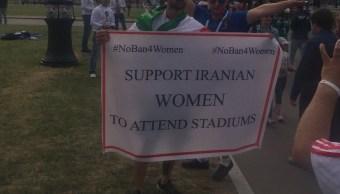 Activistas irrumpen Irán Marruecos mujeres estadios iraníes