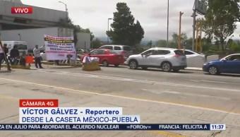 Alcanza tres kilómetros afectación en la autopista México-Puebla