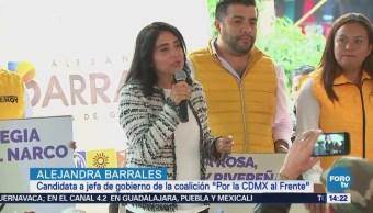 Alejandra Barrales pretende certificar a policías