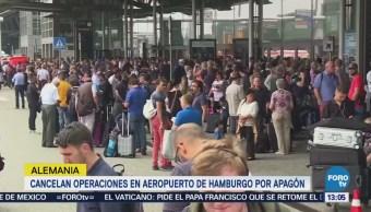 Apagón Eléctrico Detiene Operación Aeropuerto Hamburgo