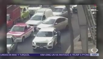 Asaltan a conductor durante embotellamiento en Álvaro Obregón