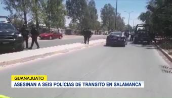 Asesinan Seis Policías Tránsito Salamanca Guanajuato