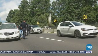 Atropellan a un hombre en la carretera México Toluca
