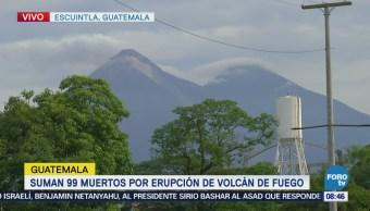 Aún preocupa la actividad volcánica en zona de erupción en Guatemala