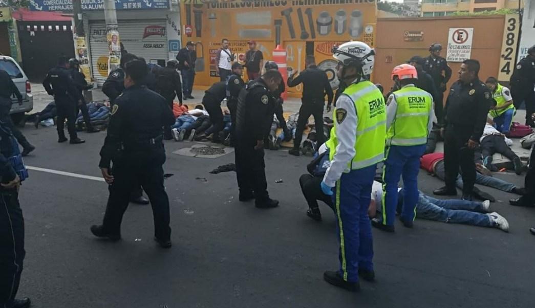 Balacera deja dos muertos y un lesionado en la CDMX