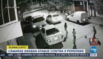 Balean a varias personas frente a niños en León, Guanajuato