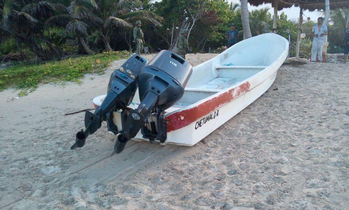 Semar asegura pequeña embarcación con hidrocarburo en Q. Roo