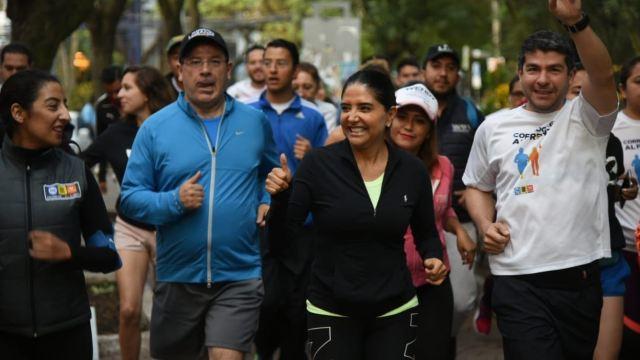 alejandra barrales participa carrera corredores frente