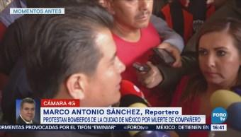 Bomberos Piden Investigue Asesinato Compañeros CDMX