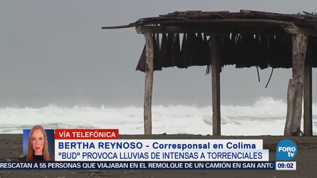 'Bud' provoca intensas lluvias en Colima