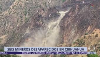 Buscan a 6 mineros desaparecidos tras ruptura de represa en Chihuahua