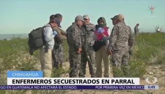 Buscan a tres enfermeros secuestrados en Parral, Chihuahua