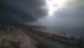 Se registran lluvias de moderadas a fuertes en Campeche