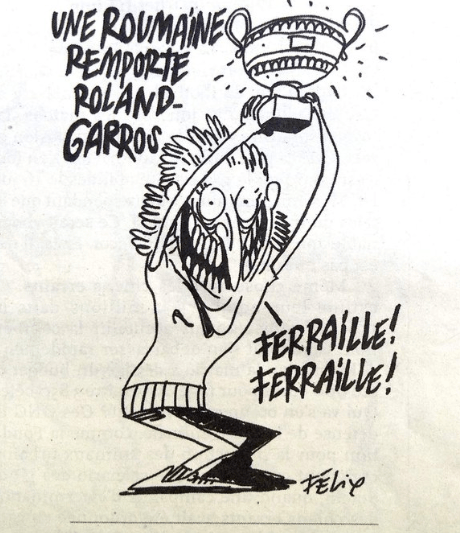 Caricatura sobre Simona Halep en Charlie Hebdo indigna a rumanos