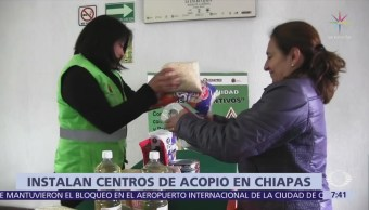 Chiapas abre centro de acopio para apoyar a damnificados de Guatemala