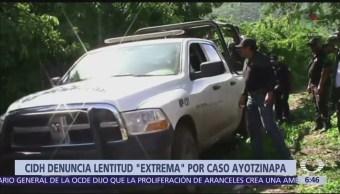 CIDH denuncia lentitud en investigación del caso Ayotzinapa